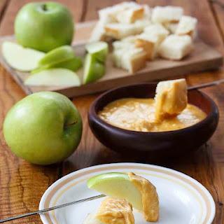 Melting Pot Cheddar Cheese Fondue.