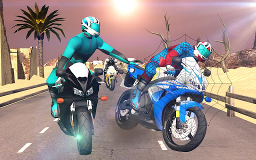 Spider Stunt Rider  Superhero Spider Highway Rider