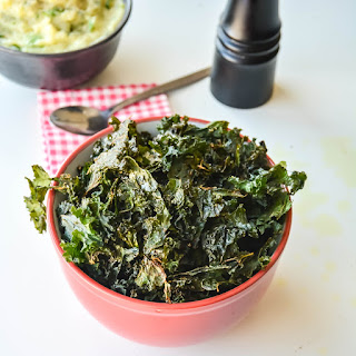 Indian Spiced Kale chips.