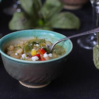 White Bean Tomatillo Verde Soup