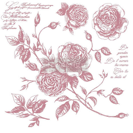 Prima Redesign Decor Clear Stamps 12X12 - Romance Roses
