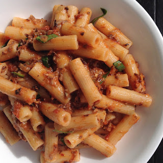 Pasta with Crispy Mushroom & Garlic Crumble.