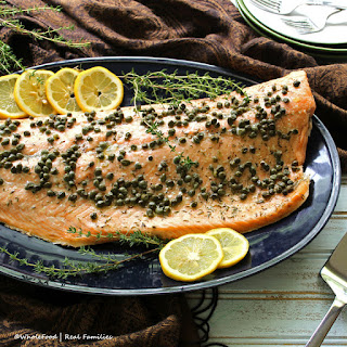 Roasted Salmon with Capers.