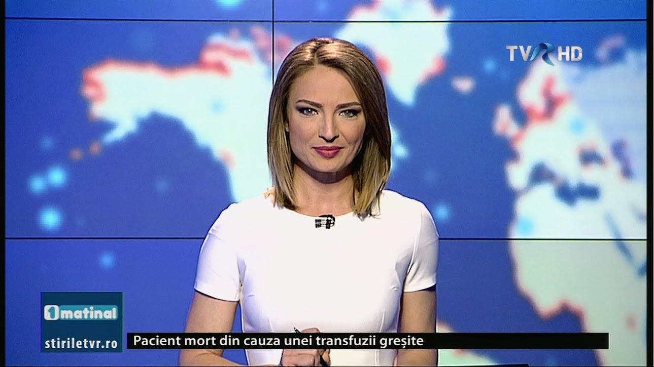 Andra Petrescu este noua prezentatoare a stirilor matinale pe TVR 1