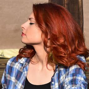 Katarina by Slaven Bandur - People Portraits of Women ( red hair, beauty, profile, natural light, girl, sunny )