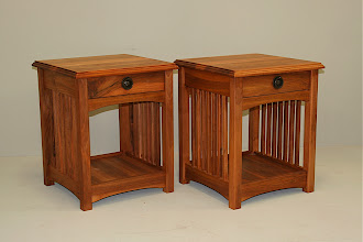 Photo: Bedside cabinets - Euro walnut Roland the Great Gautier.