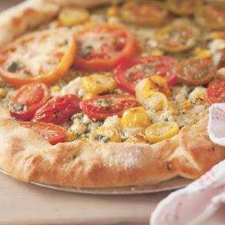 Basil Pesto Pizza Tart