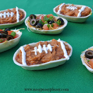 Seven Layer Dip Football Bowls