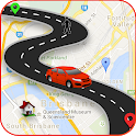 GPS Maps live Navigation & GPS Route Finder Free icon
