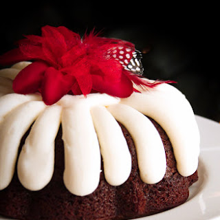 Our Version of Nothing Bundt Cakes' Chocolate Chocolate Chip Cake.