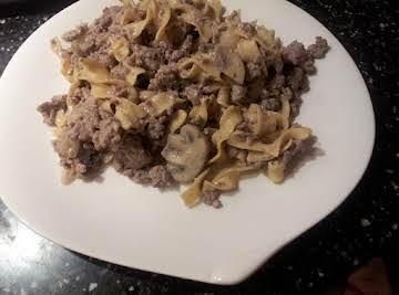 Auntie's Best Beef Stroganoff