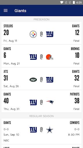 New York Giants Mobile screenshot