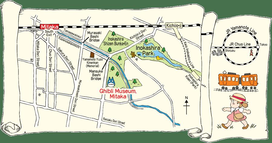 museo ghibli mapa