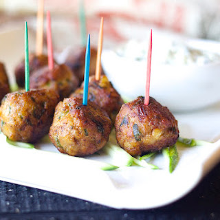 Chicken Kabab meatballs.