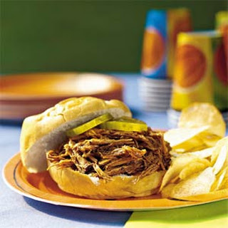 Slow-Cooker Barbecue Beef Sandwiches.