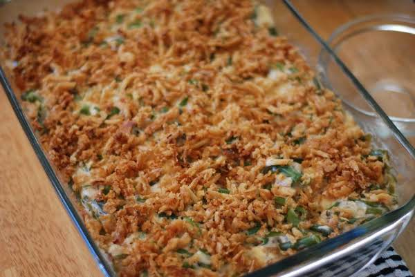 Green Bean Casserole (with Canned Green Beans)
