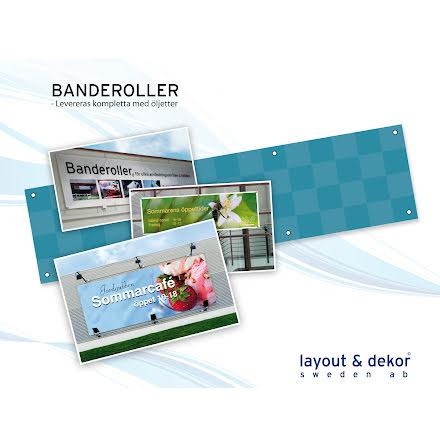 Banderoll 1500x1000mm digitalprint inkl 6 ölj.