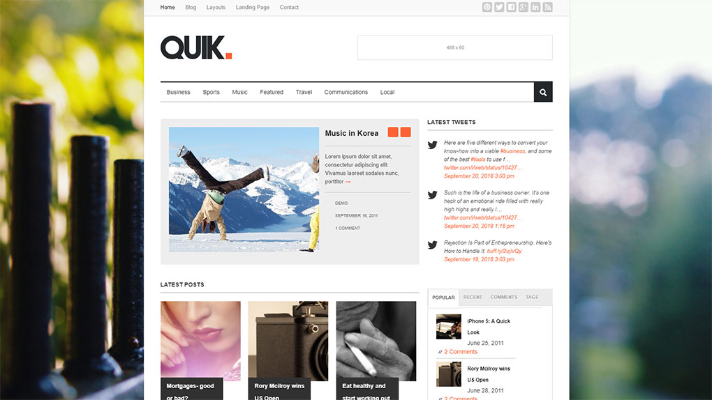 child theme quik para wordpress