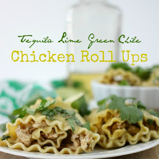 Tequila Lime Green Chile Chicken Roll Ups