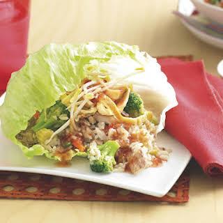 Tuna and Rice Lettuce Wraps.