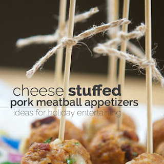 Cheese Stuffed Pork Meatball Appetizers.