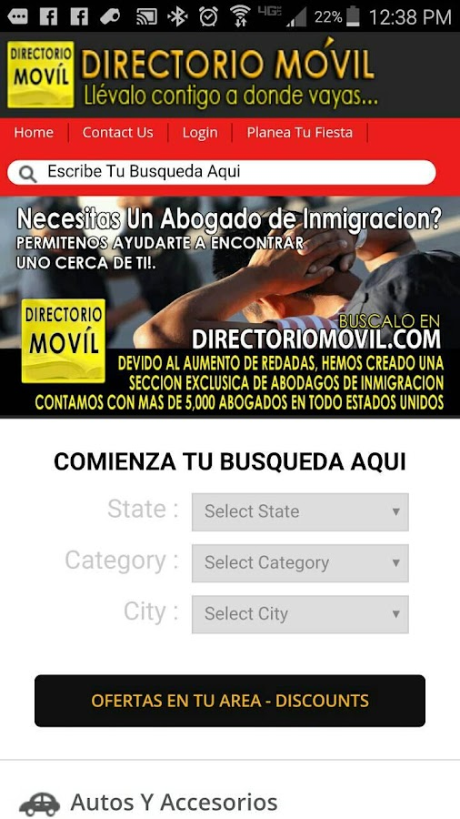 Latinos Unidos- screenshot