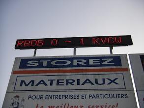 Photo: Eindstand bij RBD Borinage - KVC Westerlo 0-1