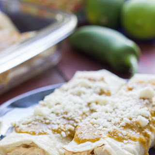 Roasted Verde Chicken Enchiladas
