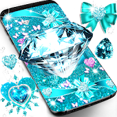 Tải Turquoise blue diamond glitter live wallpaper miễn phí