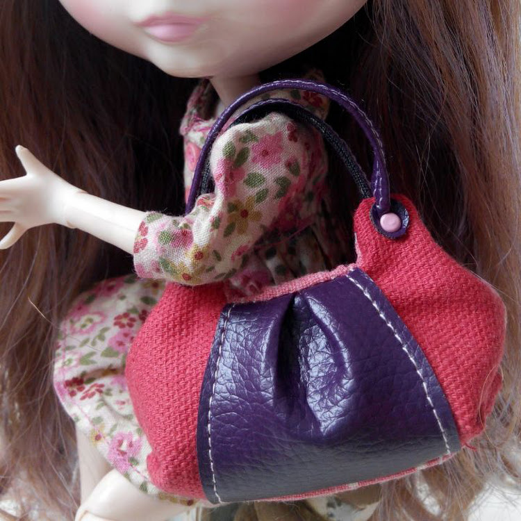 Red Mini Bag by Lessugar Handmade