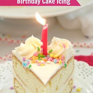 Birthday Cake Icing.