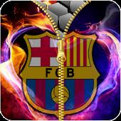 Tải FC Barcelona zipper lock screen miễn phí