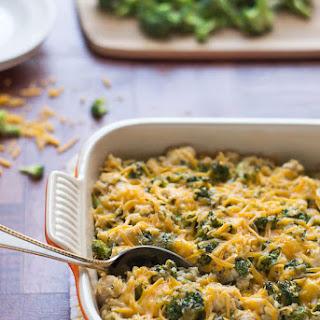 Healthy Cheesy Chicken Broccoli Rice Casserole Recipe