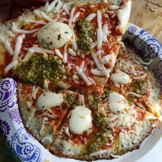 Grain-Free Pesto-Mozzarella Fried Pizza