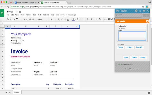 google tasks extension
