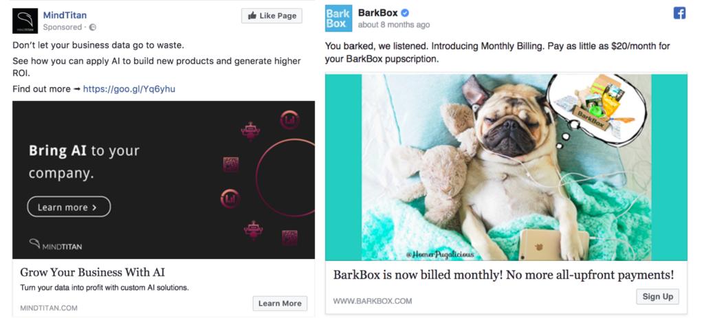 Facebook advertising tone of voice