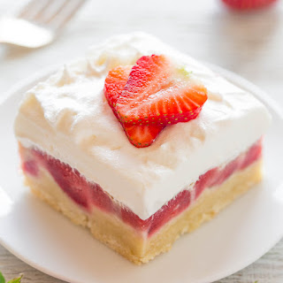 Strawberry Custard Bars.