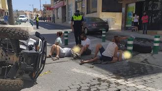 Imagen del accidente que circula por apps de mensajería instantánea.