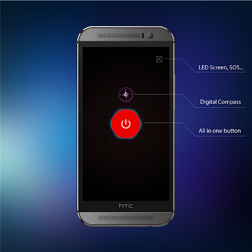 Flashlight + Super LED with Compass Apps (apk) free download for Android/PC/Windows screenshot