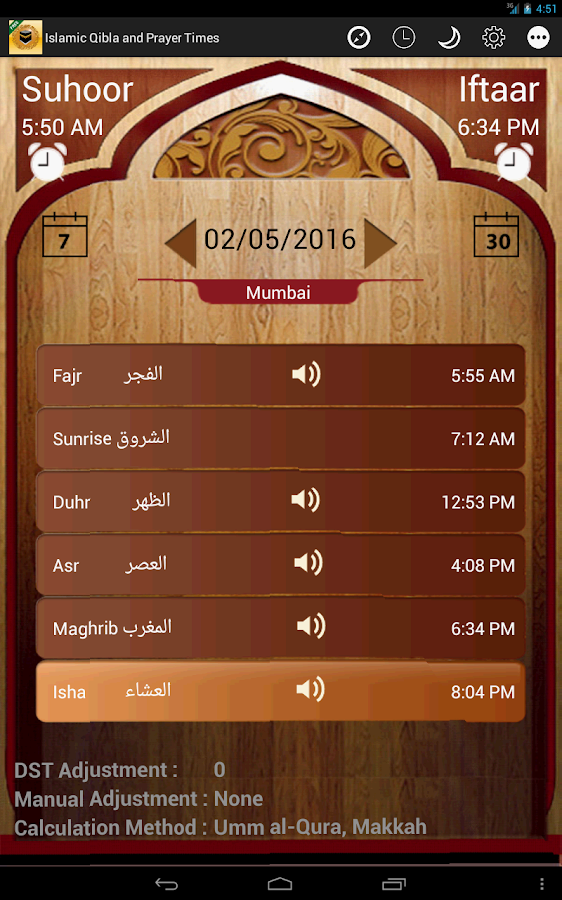 Islamic Prayer Times & Qibla- screenshot
