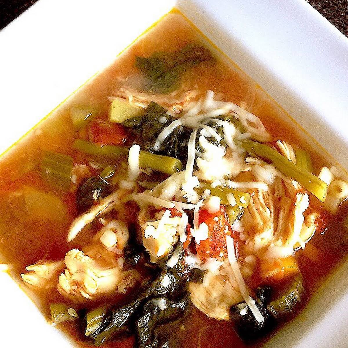 Easy 21 Day Fix Chicken and Veggie Soup (Instant Pot/ Stove Top/ Crock Pot)