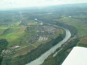 Photo: The Rhine, continuing after the waterfall http://www.swiss-flight.net