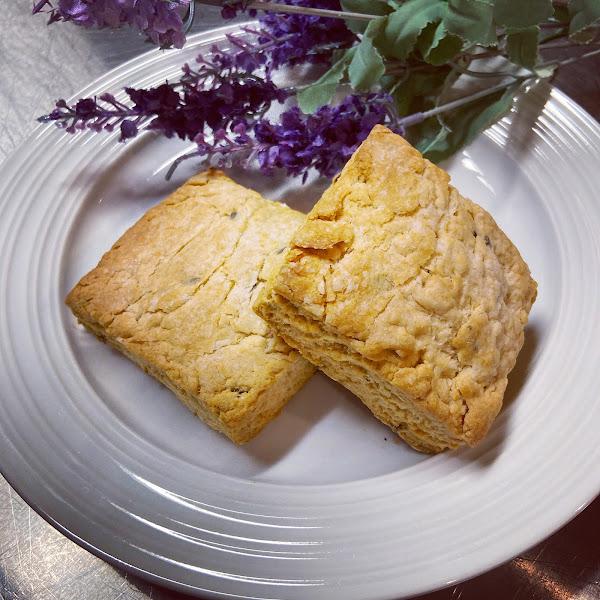 Gluten-free honey and lavender scones!