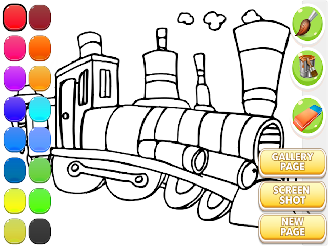 android Train Coloring Book Screenshot 0