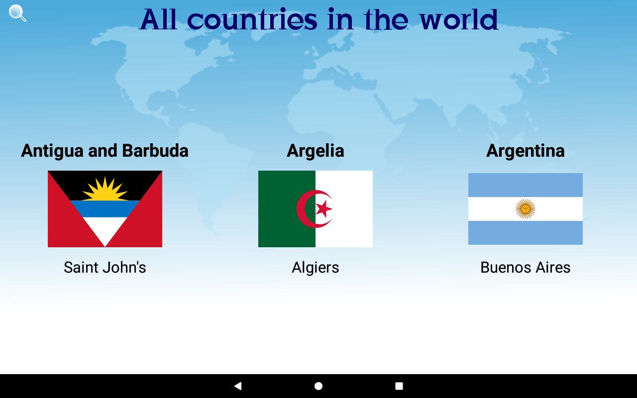 Countries and Flags- screenshot