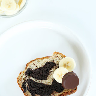 Gluten Free Banana Bread with Chocolate Swirl