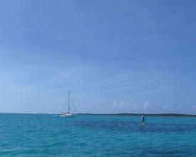 Photo: paddling back to C'est la Vie