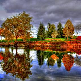 by Jean Verret - City,  Street & Park  City Parks ( nature park autumn, landscape )