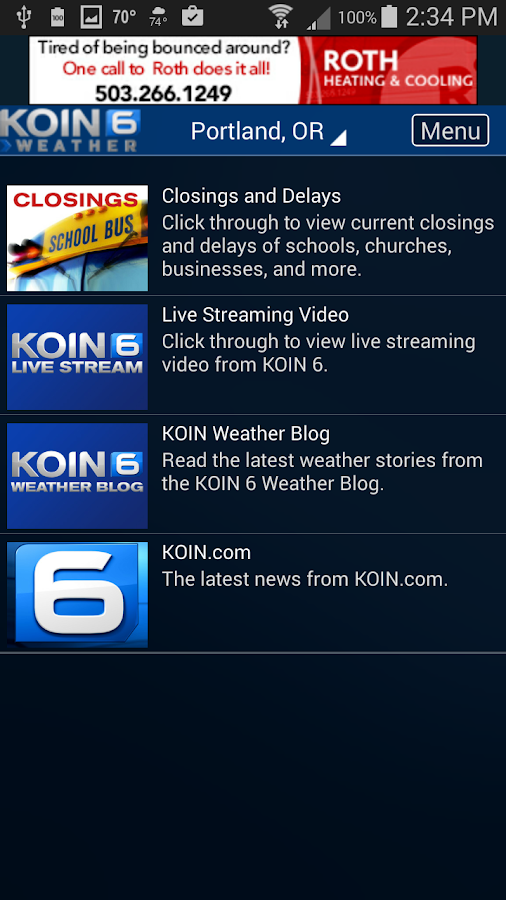 PDX Weather - KOIN Portland OR- screenshot