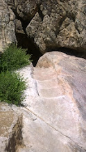 Photo: August 11-After the tour, one of the options was to climb down the mesa using the original path.  Sign me up.